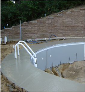 X-Brace® with pool deck poured
