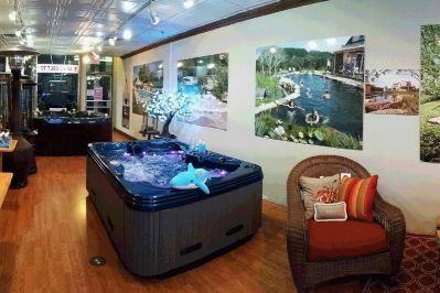 Hot tub showroom in one of our stores