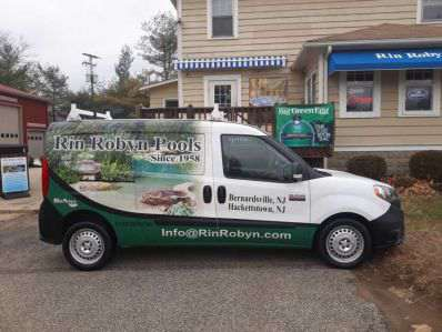 One of Rin Robyn's pool and hot tub service vans
