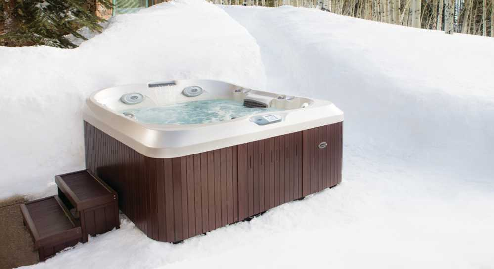 Shoveling a path to and around your hot tub will allow our techs to service your hot tub.