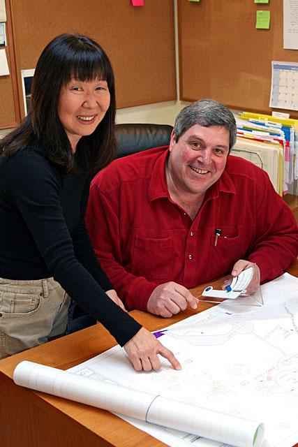 James and Hae-Sun in their design studio - 2006